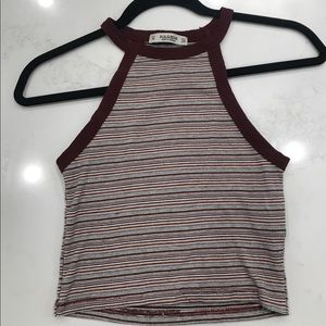 Pull&Bear 90s style halter cropped tank